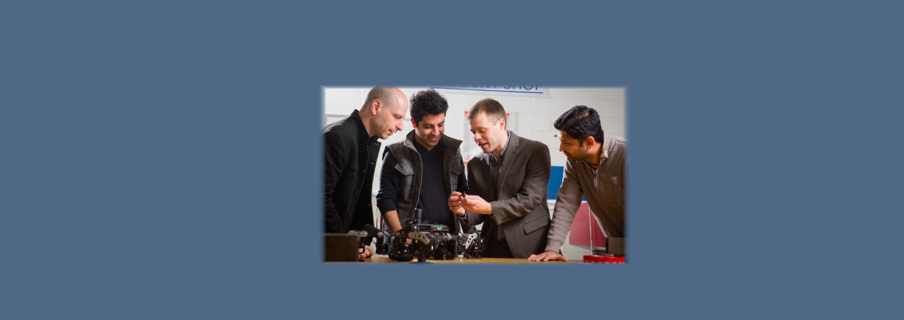 Faculty at University at Buffalo working with robotics