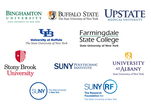 an image of the logos from the campuses of the members of the Strategic Planning Team
