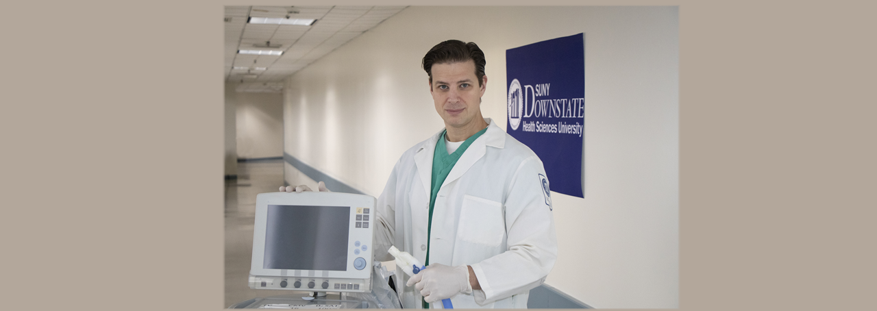 SUNY Downstate Emergency Medicine physician and Assistant Director of Research Lorenzo Paladino