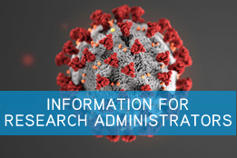image link to COVID-19 information for Research Administrators page